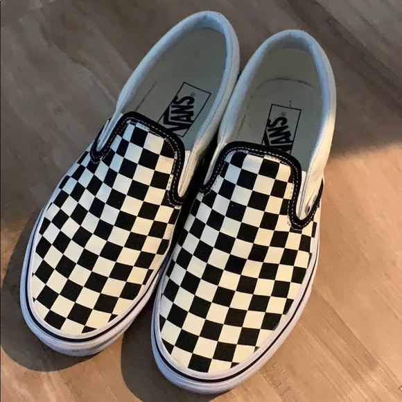 09289294239 Vans Checkerboard Slip-On (Black Off White Check).  M 5c3f8a9b12cd4a5a24ece322